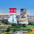 JCDecaux and Vodacom rebrand the Soweto Towers, South Africa's iconic and famous landmark