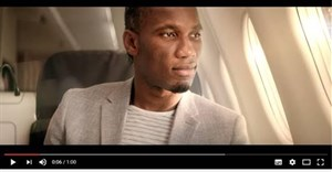 Didier Drogba scores goal with Turkish Airlines ad