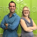 Deborah Aremband and Ricky Tomaselli, Fieldspace's marketing team