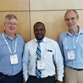 (L-R): Magnus von Knebel Doeberitz, Medical Director, Department of Applied Tumor Biology, Institute of Pathology,Heidelberg University Hospital; Elkanah Omenge Orang'o of Moi University, Nairobi; and Hermann Bussmann, Research Associate, Department of Immunology and Infectious Diseases, Harvard T.H. Chan School of Public Health.