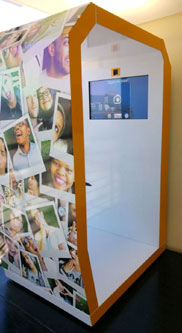 Burger King and Dunkin' Donuts introduce digital photo booth at restaurant in Cape Town