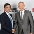 CEO of Monash South Africa Sharad Mehra and former UK Prime Minister Tony Blair.