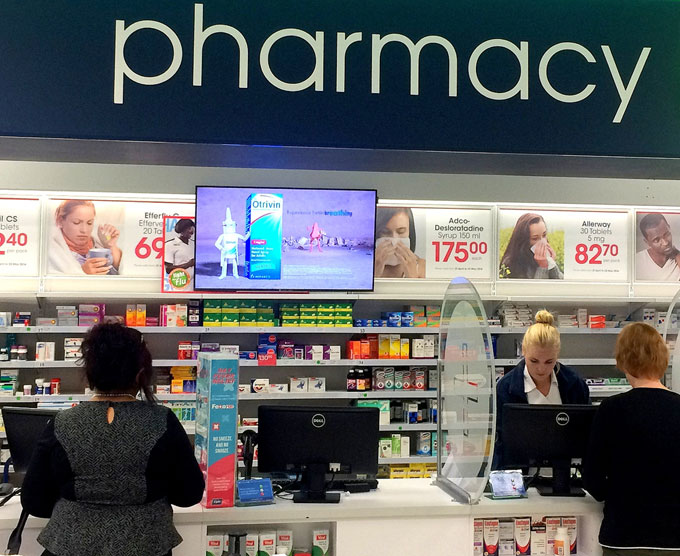 Clicks pharmacies increase revenue with introduction of digital signage network