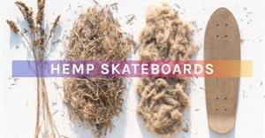 Skateboards made from hemp