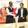 Jumia Food's Duncan Muchangi and Sodexo Kenya's Neil Ribiero.