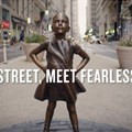 Canes Lions PR Grand Prix winner Fearless Girl, by McCann New York, State Street Global Advisors.