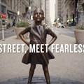 Canes Lions PR Grand Prix winner Fearless Girl, by McCann New York, State Street Global Advisors.