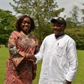 IITA Director General Nteranya Sanginga (right) welcomes the Nigerian Minister of Finance, the Hon. Kemi Adeosun (left) to IITA, Ibadan. Photo: O. Adebayo, IITA