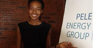Fumani Mthembi, one of the founders of Pele Energy Group. Photo by Tsidi Bishop