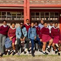 Masango with his students from Blackboard,