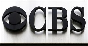 The CBS logo outside the CBS Broadcast Center in New York, the US.