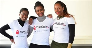 GirlCode founders from left: Jeanette Theu, Tinyiko Simbine and Zandile Keebine.