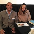 David Germain, Director: Africa and America's Seychelles Tourism Board and Amanda Lang, marketing manager, Alphonse Island.