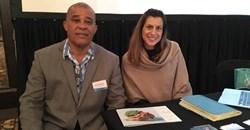 David Germain, Director: Africa and America's Seychelles Tourism Board and Amanda Lang, marketing manager, Alphonse Island.