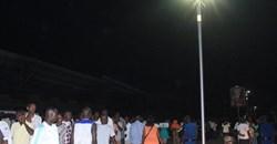 Burundi solar street lights.