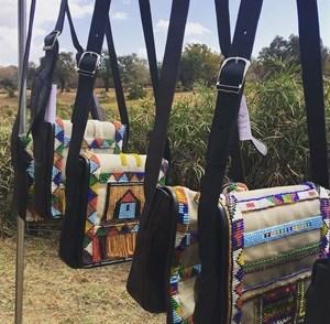 Celia in Africa Custom Beaded Handbags