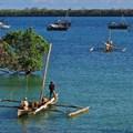 FredD via  - Fishermen on their traditional boats near Shimoni (Kenya)