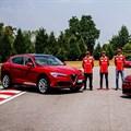 Ferrari racing drivers give Alfa Romeo Giulia Quadrifoglio a go