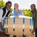 From left to right: Sydney Mello, Maryna Huysamen, and Banele Vakele.