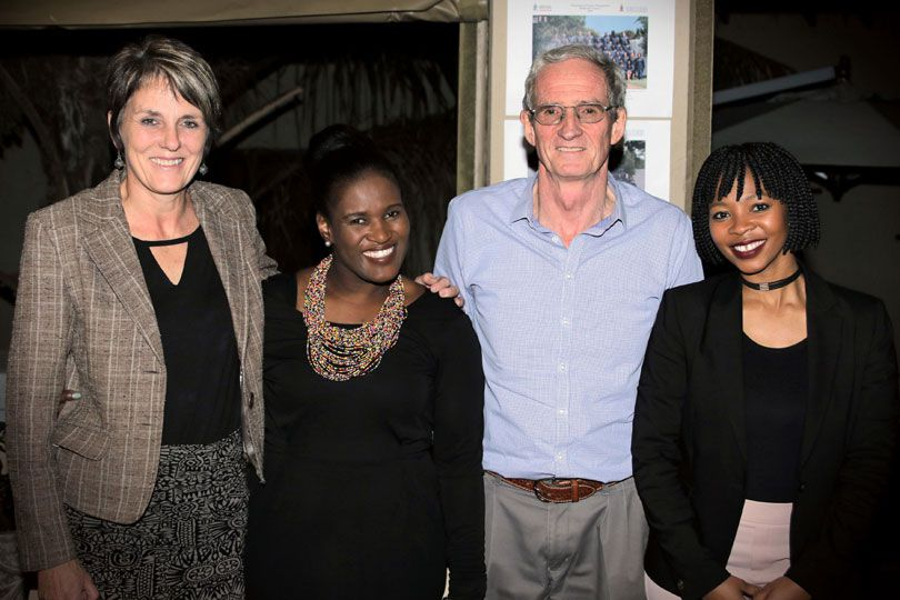 From left, Hermien Dorfling (Executive Manager: Training Solutions), Nwabisa Budaza (Course Coordinator), Prof. Herman Steyn (Course Leader) and Bontle More (Programme Manager)