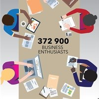 Reach 372,900 business-minded people through targeted impressions