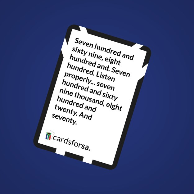 South Africa launches own version of Cards Against Humanity