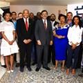 Minister Ebrahim Patel with participants of the Massmart Supplier Development programme.