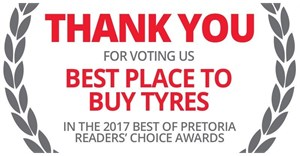 """Tiger Wheel & Tyre is """"Best Tyre Shop in Pretoria"""" for fifth consecutive year"""