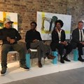 From left to right: Ready D, Neo Muyanga, John Gilmore, and Jason Storey,