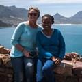 PH Clinic specialist nurse, Helen Williams with patient, Bridget Nkonyeni