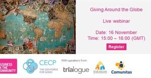 Webinar to discuss giving around the globe