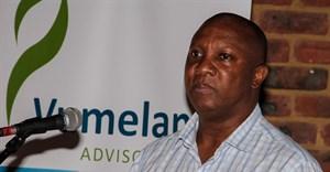 Peter Setou at the land reform roadshow in Pilanesberg
