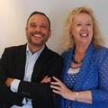 Scopen's global CEO Cesar Vacchiano and Johanna McDowell of IAS.