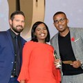 Justin van Alphen, portfolio manager NBD at Ads24; with Siphokazi Mestile, account manager; and Ntando Msibi, copywriter on all three Pendoring-winning spots.