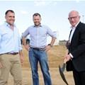 Louis van der Watt, Atterbury CEO; Morne Wilkin, CEO of Attacq; and Mike Jarvis, COO, Deloitte Africa