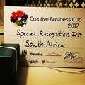 Global event presents Creative Business Cup SA with Special Recognition Award