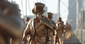 365 Johnnie Walker statues stride to end woman and child abuse in South Africa