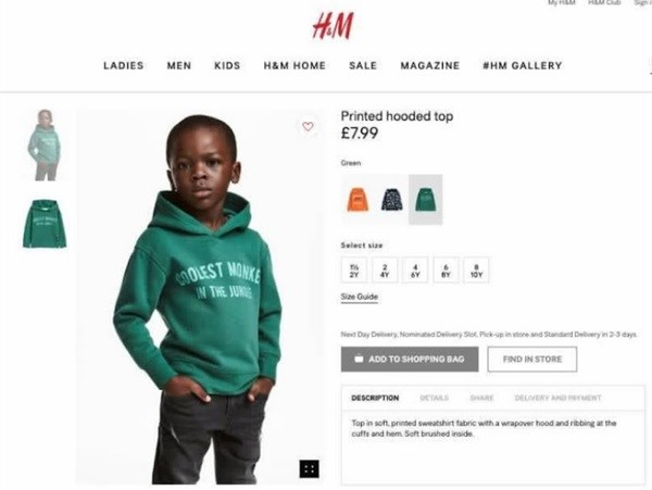 H&M removes 'black boy' ad after racism accusation