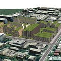 A 3D model of a development scenario in Brisbane's West End produced using ESRI's CityEngine program. Author supplied