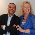 Scopen global EO César Vacchiano with South African partner Johanna McDowell.