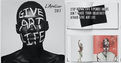 The Give Art Life book by Cullinan for client Absa L'Atelier.