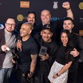 Reddy with team Grid, celebrating their Grand Prix at Loeries 2017.