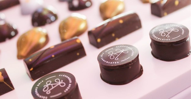 Delectable chocolates we tasted at Alexander Avery Fine Chocolates, also paired with an MCC.