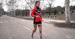 Spanish Olympic Athlete, Maria Azucena Diaz, tests the body sensors. Credit: ElPais
