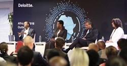 Deloitte panel at Africa Outlook 2018: (L-R) Hardy Pemhiwa, Sola David-Borha, MD Ramesh, and Sabine Dall'Omo.