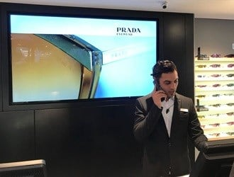 Sunglass Hut's digital signage solution showcases its brand at premium store opening