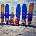 Loyiso and the team he attended the LeaderSurf programme with.
