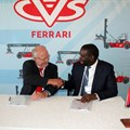 Colin Clegg, regional manager – CVS Ferrari and Mcebisi Mlonzi, chairman and CEO of Ritam Holdings.