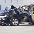 Totalled SUV automobile after drunk driving accident. © Jonathan Weiss via