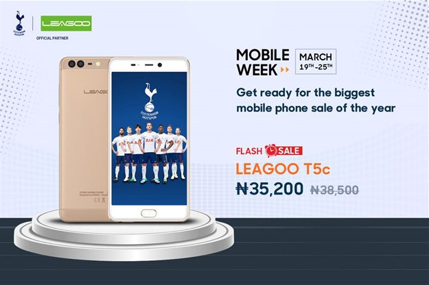 LEAGOO T5c available in flash sales on Jumia Mobile Week for